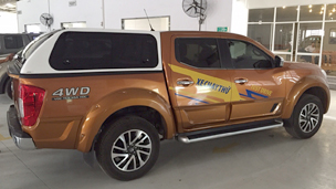 Karuna canopies for New Nissan Navara NP300 exclusively distributed by Nissan Vietnam for Vietnam Market