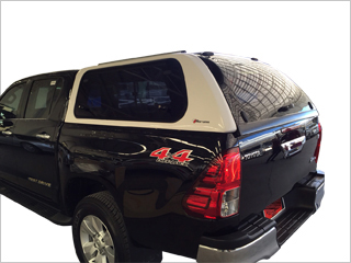 Side Fold Up windows canopy Hilux Revo Double cab 2016